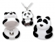 PANDA BEAR NECKLACE WITH SILVE...